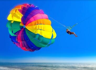 parasailing.